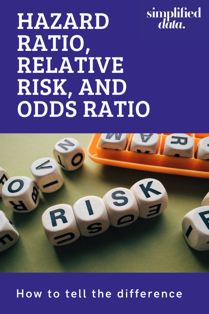 How to tell the difference between a hazard ratio, odds ratio, and relative risk
